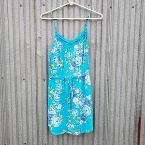 Aeropostale Sundress Blue Floral Size Extra Small
